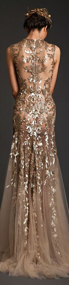 Woah beautiful dress...if only I have red carpet events to go to// Krikor Jabotian ● Couture SS 2014