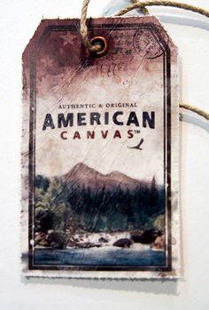 American canvas #hangtag
