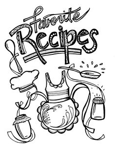 Recipe Book Coloring Pages Printable Recipe Binder Coloring Pages For Adults So Cool This Is Such An Artful Coloring Pages Flowers Printable Printable Recipe Page, Recipe Book Templates, Free Printable, Food Coloring Pages, Adult Coloring Pages, Coloring Books, Recipe Book Covers, Recipe Books, Recipe Book Design