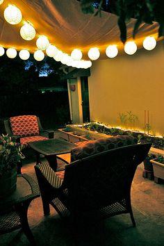 Pretty backyard decor.