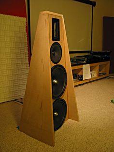Open Baffle Speakers, Wooden Speakers, Audio Speakers, Built In Speakers, At Home Movie Theater, Audio Music, Speaker Design, High End Audio, Loudspeaker