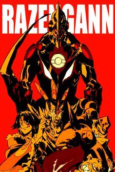 Lagann Gurren, Manga Anime, Anime Art, Gurren Laggan, Blood Orphans, Costume Armour, Naruto Vs Sasuke, Super Robot, Manga Covers
