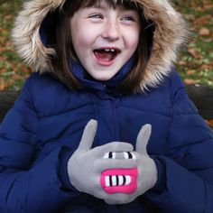 Fun monster gloves for kids |Warmsters