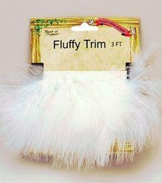 Marabou Feather Trim Tape-White & feathers & boas at Joann.com