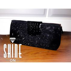 Host PickSparkly Black Clutch Such a gorgeous sparkly black clutch! Perfect for going dancing with your girls, or going on a romantic date with your honey! It's a great size for your phone, some makeup essentials, cash and a compact! Brand new, never used. Bags Clutches & Wristlets