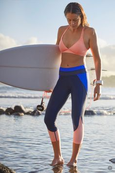 These performance capris are designed for your toughest swim training or surf session. Made with comfortable and functional Lyra, features a fully adjustable drawstring and a sneaky internal pocket