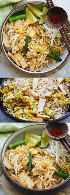 Chicken Pad Thai - learn how to make this amazing Thai stir-fried noodles with a sweet and savory homemade Pad Thai sauce   rasamalaysia.com