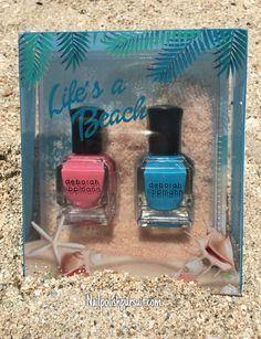 Deborah Lippmann Life's a Beach Duo Deborah Lippmann Nail Polish, Swatch, Life