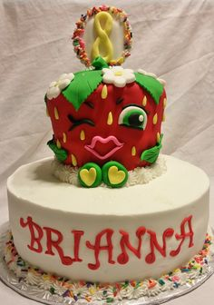 Shopkins Strawberry Kiss Cake