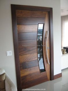 ideas main door design modern decor for 2019 Custom Wood Doors, Wooden Front Doors, Modern Front Door, The Doors, Entrance Doors, Windows And Doors, Modern Entrance Door, Modern Entry, Wooden Door Design