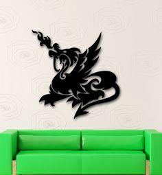 Wall Stickers Vinyl Decal Dragon Fantasy Mythological Creature (ig1724)