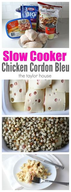 Slow Cooker Chicken Cordon Bleu - delicious and simple recipe your whole family will love!