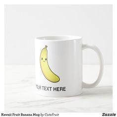 Shop Kawaii Fruit Banana Mug created by CuteFruit. Personalize it with photos & text or purchase as is! Kawaii Fruit, Soup Mugs, Personalized Coffee Mugs, Succulents Diy, Custom Buttons, Custom Mugs, Food Art, Photo Mugs, Art For Kids