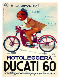 Vintage Ducati poster