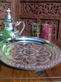 Moroccan tea tray