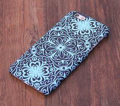 Turquoise Floral Design iPhone 6 Case/Plus/5S/5C/5/4S Protective Case – Acyc