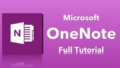 Microsoft OneNote Tutorial                                                                                                                                                                                 More
