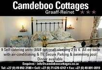 Camdeboo Cottages in the heart of historical Graaff-Reinet, offers B or self-catering accommodation