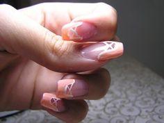 Ballet Shoe Nail Art. A ballet pointe shoe manicure!