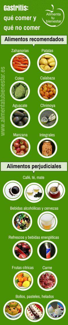 alimentación para la gastritis