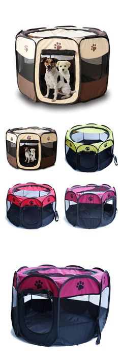 Portable Cat Dog House Pet Cage Supplies Dog Cat Carrier House Fold Dog Cat Fence Kennel Outdoor Cat House Playpen Exercise