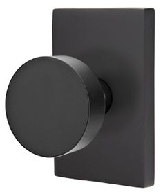 door handle in matt black, with square rossette Emtek 510HLO We ...