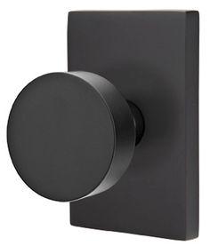 Flat round door knob