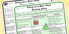 We're Going on a Bear Hunt Sensory Story