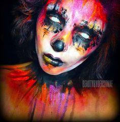 Clown Makeup, Sfx Makeup, Costume Makeup, Halloween Makeup, Halloween Town, Halloween Stuff, Halloween Ideas, Face Paint Makeup, Loose Pigments
