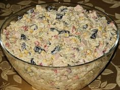 Sałatka hit przyjęcia - zdjęcie 2 Vigan, Polish Recipes, Polish Food, Potato Salad, Oatmeal, Food And Drink, Rice, Cooking Recipes, Cheese