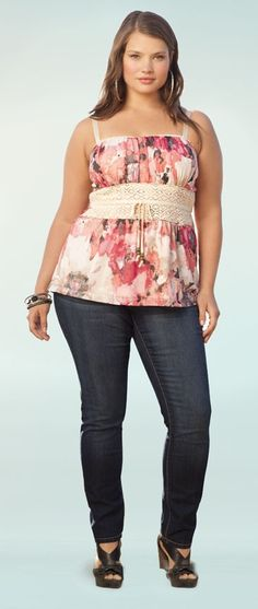Floral and lace with Jean jacket. Yeah!