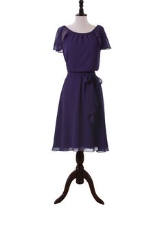 Nice Knee Length Chiffon Dress For Bridesmaids