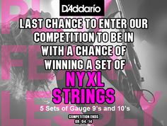 Don't forget to enter our #competition to be in with a chance of winning a set of @daddarioandco  #NYXL #Strings.  Find your way to this post....https://www.facebook.com/guitarbitz/photos/a.10150361723123946.354731.110577068945/10152324794863946/?type=1&theater and LIKE & Share it with all your friends and family. Don't forget to like our page too!  We'll be picking 10 #lucky #winners tomorrow, so get liking now!