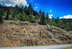 Dike in Absaroka volcanics, Wyoming