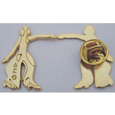 Delta Sigma Theta pins-gold