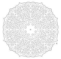 Mandala 648, Mandala Mazes Coloring Book, Dover Publications