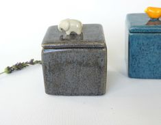 Handmade Ceramic Box with Elephant by VanilyaCeramics on Etsy Handmade Ceramic, Handmade Gifts, Ceramic Boxes, Ceramic Figures, Hand Shapes, White Clay, Air Dry Clay, Summer Art, Unique Jewelry