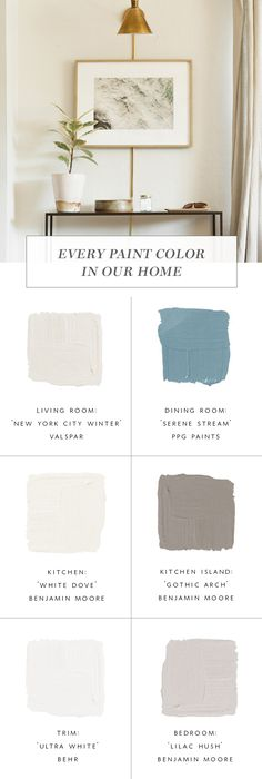 How to Pick Better Paint Colors for Your Home & Every Color We've Used in Ours! Paint Color Palettes, Neutral Paint Colors, Best Paint Colors, Room Colors, House Colors, Home Decor Inspiration, Color Inspiration, Benjamin Moore Colors, Boho Bedroom Decor
