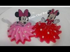 Gelatinas de Minnie Mouse individuales - YouTube