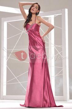 セクシーな床長さスパゲッティネックサッシュイブニングドレス