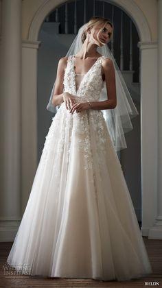 bhldn spring 2016 bridal gowns stunning romantic a  line ball gown wedding dress flora applique v plunging neckline style ariane