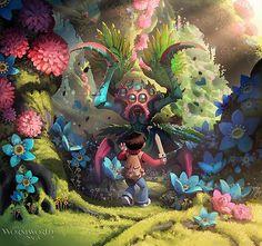 Cute Illustrations by DanielLieske - WormWorld Saga