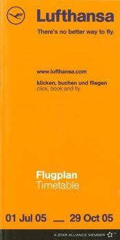 Lufthansa Timetable, 2005