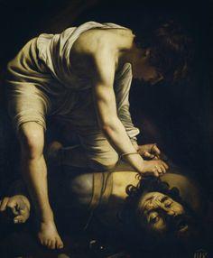 """Caravaggio, """"David Victorious over Goliath"""" c.1599"""