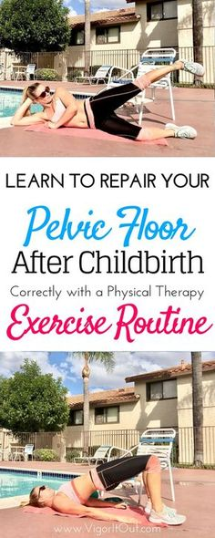 Physical therapy pelvic floor exercises to rehab post baby. The facts are that you need targeted workouts to strengthen your pelvic floor postpartum. Whether you're suffering from incontinence, pain, diastasis recti, or a uterine prolapse this routine can Post Baby Workout, Post Pregnancy Workout, Pregnancy Info, Post Baby Diet, After Baby Workout, Post Baby Body, Pregnancy Care, Postnatales Training, Diastasis Recti Exercises