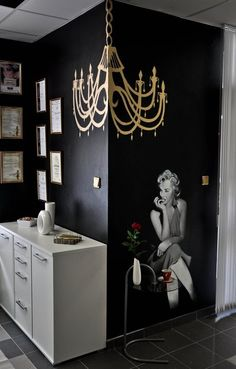 Love this wall| home nail salon decorating ideas | nail technician room ideas