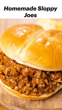 Beef Recipes For Dinner, Ground Beef Recipes, Meat Recipes, Cooking Recipes, Recipies, Homemade Sloppy Joes, Sloppy Joes Recipe, My Favorite Food, Favorite Recipes