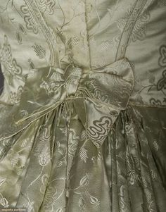 Ball Gown (image 5) | 1840s | brocaded silk | Augusta Auctions | November 11, 2015/Lot 5