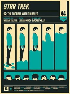 "Poster for ""The Trouble with Tribbles"" TOS episode by Olly Moss (Alamo Drafthouse)"