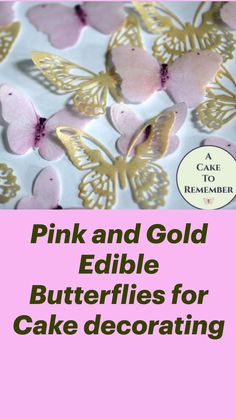 Wafer Paper Flowers, Cookie Tutorials, Cookie Decorating, Decorating Ideas, Cute Cakes, Royal Icing, Pink And Gold, Cupcake Cakes, Projects To Try